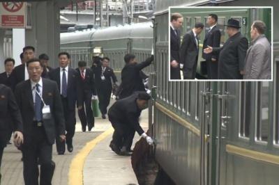 Кім Чен Ин приїхав в Росію на бронепоїзді
