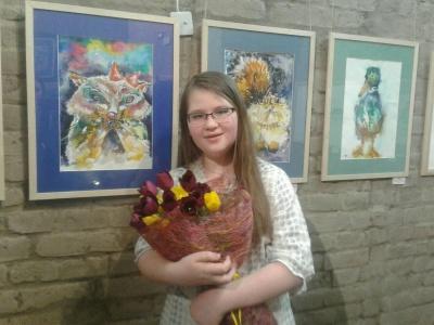 У Чернівцях презентували виставку картин 10-річної Євгенії Войтів – фото