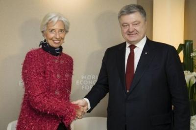 """Порошенко обговорив з керівником МВФ ситуацію навколо """"Приватбанку"""""""