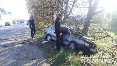 У Чернівецькій області легковик врізався у дерево, загинула юна пасажирка