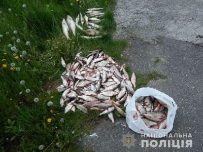 На Буковині поліція виявила двох осіб, які незаконно виловлювали рибу сітками