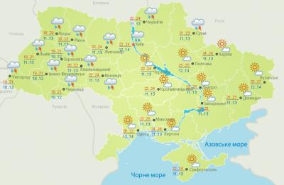 Погода на Буковині 15 травня