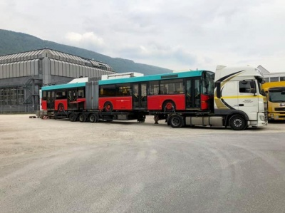 До Чернівців зі Швейцарії вирушила партія вживаних тролейбусів