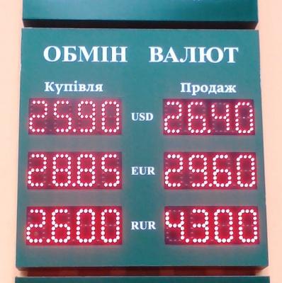 Курс валют у Чернівцях на 21 травня