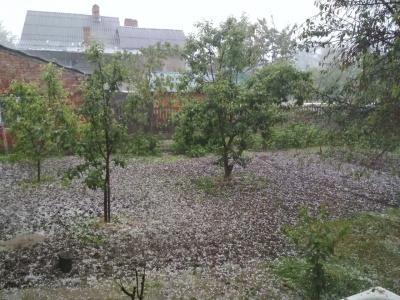 У Чернівцях випала сильна злива із градом – відео