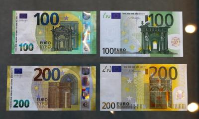 Єврозона ввела в обіг нові купюри у 100 і 200 євро