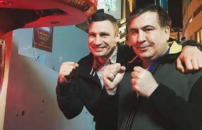 Кличко запропонував Саакашвілі очолити партію УДАР на виборах у Раду