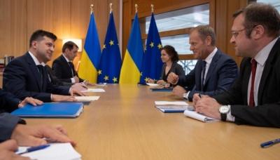 Зеленський у Брюсселі закликав посилити санкційний тиск на Росію