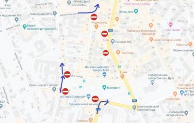 У Чернівцях сьогодні повністю перекриють рух транспорту на Соборній площі через концерт «Океану Ельзи»