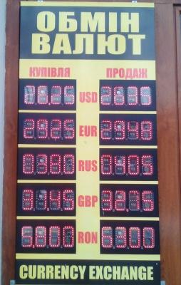 Курс валют у Чернівцях на 19 червня
