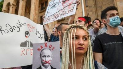Відповідь Путіна на протести в Грузії: в соцмережах висміяли господаря Кремля