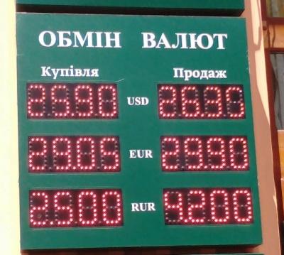 Курс валют у Чернівцях на 1 липня