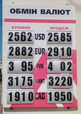 Курс валют у Чернівцях на 5 липня