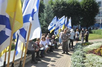«З цих місць 60% євреїв були вигнані»: у Чернівцях вшанували пам'ять жертв Голокосту