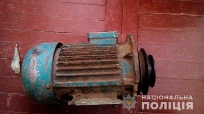 На Буковині правоохоронці виявили крадія електродвигуна