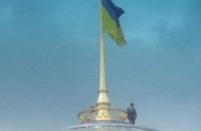 Зеленський на куполі Верховної Ради: у мережі обговорюють курйозні фото