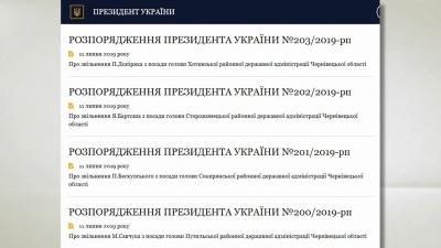 Масове звільнення голів РДА на Буковині: хто тепер керує в районах