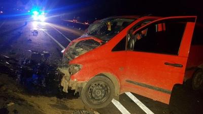 На Буковині зіткнулися два мікроавтобуси, 10 людей отримали травми – фото