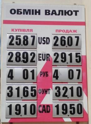 Курс валют у Чернівцях на 18 липня