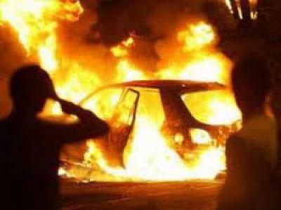 100 кг динь згоріли на Буковині внаслідок пожежі у мікроавтобусі
