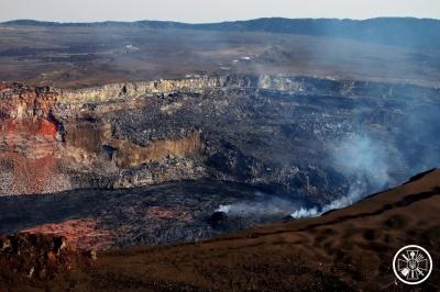Українські вчені висадилися на кратері африканського вулкану