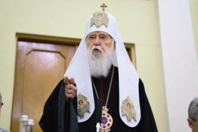 Патріарх Філарет звинуватив митрополита Епіфанія в рейдерстві