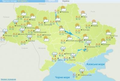 Циклон з Румунії принесе на вихідні дощі та грози