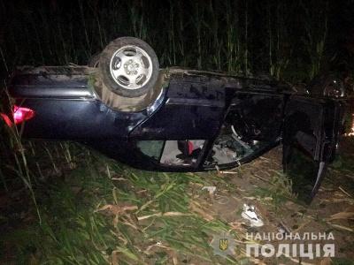 На Буковині перекинулось авто з п'яним водієм, двоє пасажирів травмовані – фото