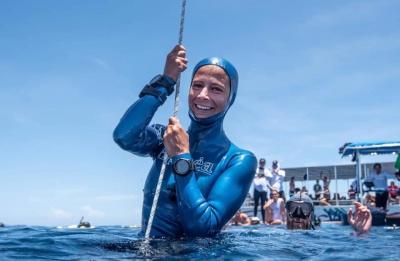 Українська спортсменка встановила світовий рекорд з глибоководного занурення