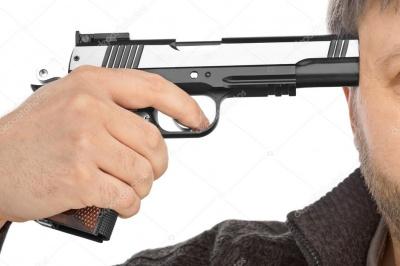 На Запоріжжі літній чоловік вистрілив собі у голову