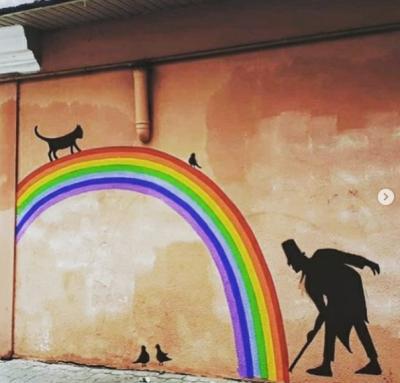 Джунглі посеред міста: чернівецькі художники розфарбовують стіни будинків - фото