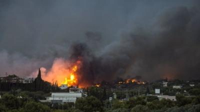 Через пожежі на грецькому острові евакуювали туристів