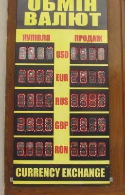 Курс валют у Чернівцях на 13 серпня