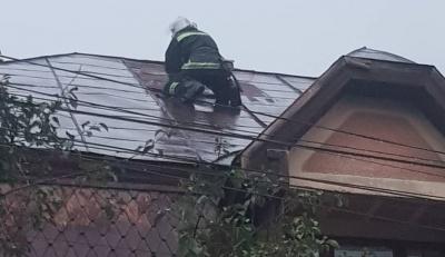 Негода дісталась Чернівців: зірвано дах будинку і впало дерево