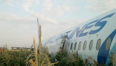 Під Москвою літак з Криму був змушений сісти на кукурудзяне поле