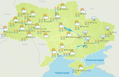 Погода на Буковині  16 серпня