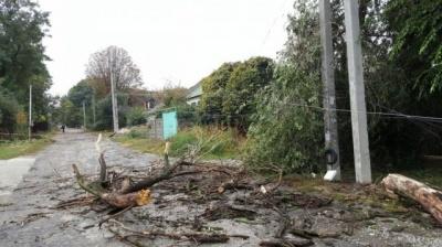 На Буковині через негоду 40 сіл залишаються без електрики