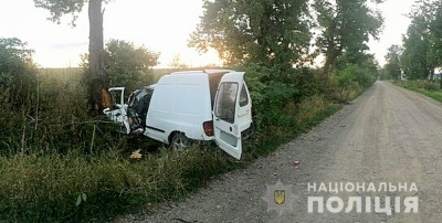 На Буковині «Volkswagen» влетів у дерево: водій і пасажир у лікарні