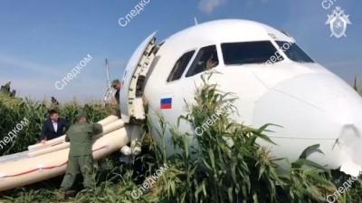 """""""Таке буває раз у 50 років"""" - лайнер, що летів у Крим, опинився у полі кукурудзи"""