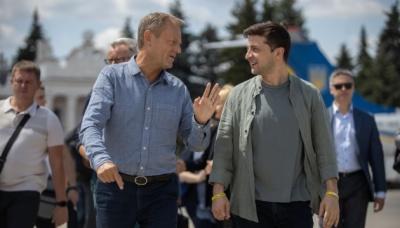 Зеленський обговорив із Туском можливість повернення Росії до G7