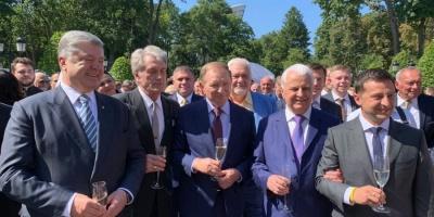 П'ять президентів: на урочистий прийом з нагоди Дня Незалежності прийшов Порошенко