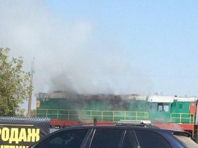 На Буковині під час руху загорівся тепловоз – відео