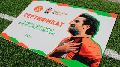 Дві дитячі футбольні команди з Буковини отримали призи від Дарійо Срни