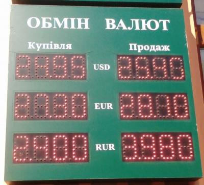 Курс валют у Чернівцях на 6 вересня