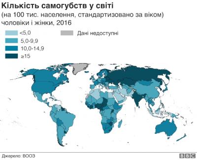 """День запобігання самогубствам: Україна - серед сумних """"лідерів"""""""