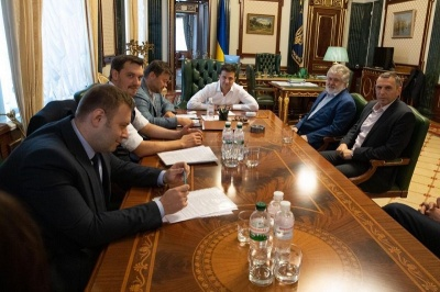 Зеленський в Офісі президента провів зустріч з олігархом Коломойським