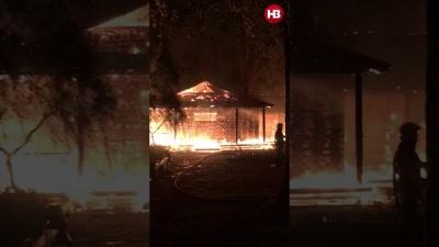 Невідомі спалили дотла будинок Гонтаревої: на згарищі знайшли запалювальну ракету