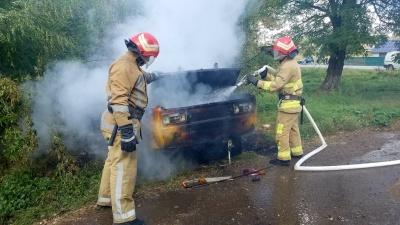 На Буковині під час руху загорівся ВАЗ: авто згоріло вщент - фото