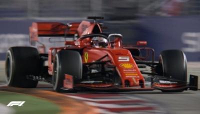 Формула-1: Гран-прі Сінгапуру виграв Феттель