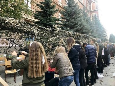 Маскувальна сітка 275 метрів завдовжки: у Чернівцях встановили рекорд України